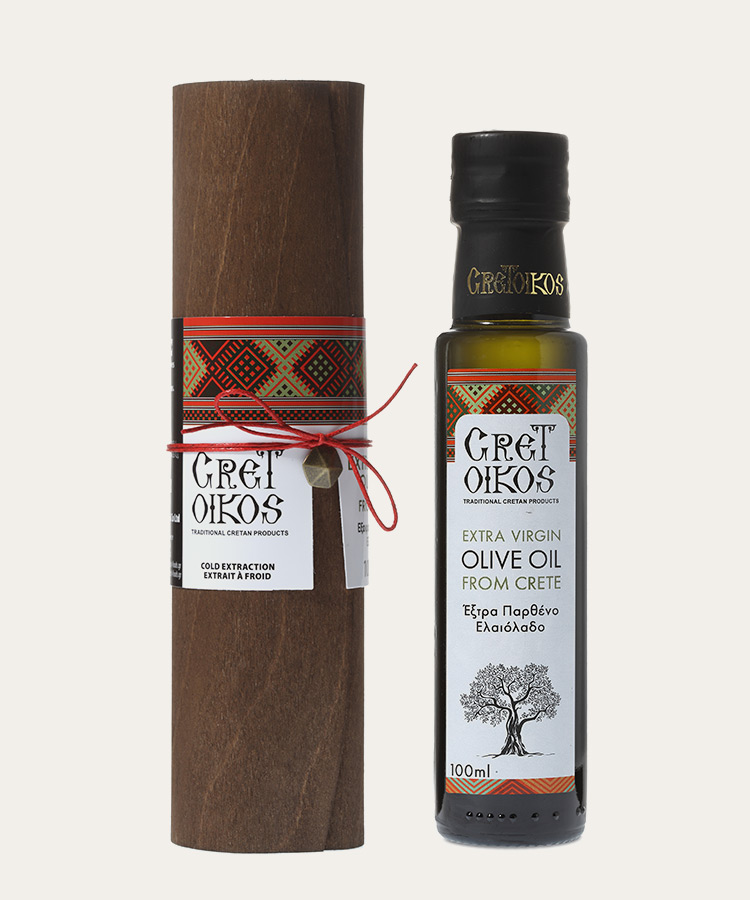Cretoikos extra virgin olive oil papyrus packaging 100ml