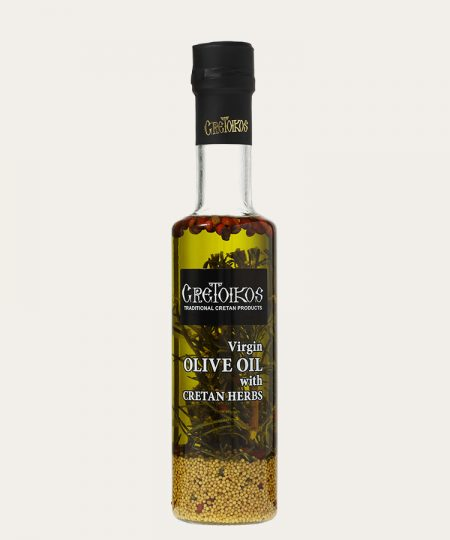 Cretoikos virgin olive oil with cretan herbs 100ml