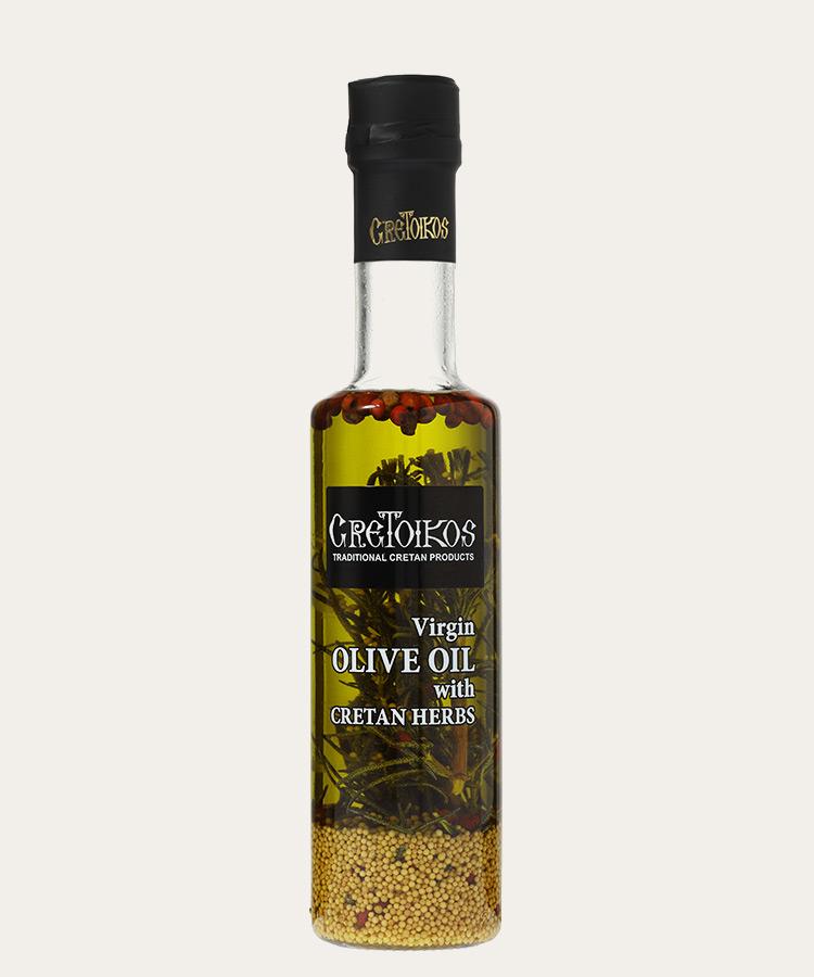 Cretoikos virgin olive oil with cretan herbs 100ml