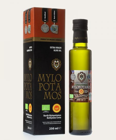 Mylopotamos pdo organic extra virgin olive oil promo box 250ml