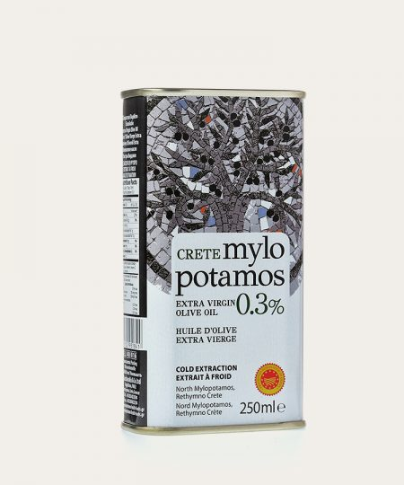 Mylopotamos pdo extra virgin olive oil 0.3% canister 250ml