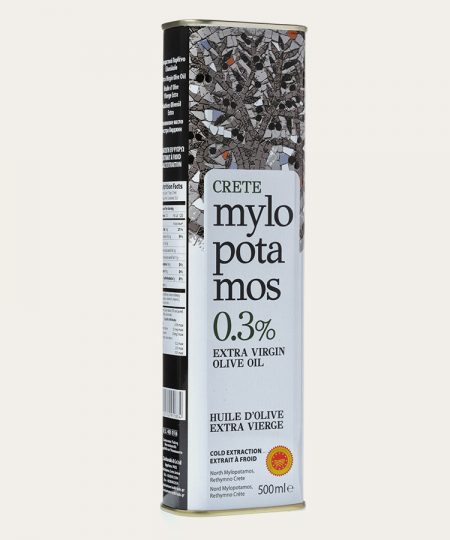Mylopotamos pdo extra virgin olive oil 0.3% canister 500ml