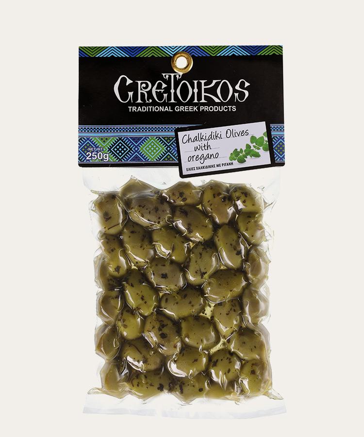 Chalkidiki olives with oregano 250gr
