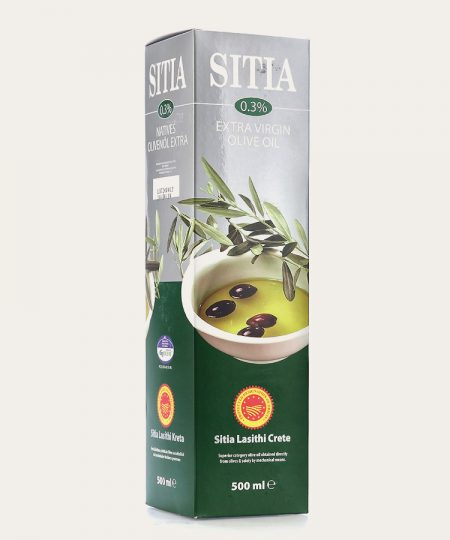 Sitia pdo extra virgin olive oil 0.3% promo box 500ml
